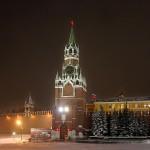 Красная площадь новогодние куранты кремль