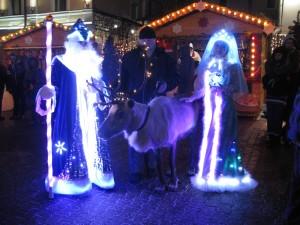 Дед Мороз на оленях в Москву